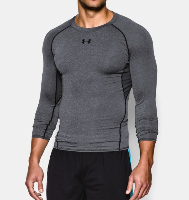 UA HeatGear compression shirt sleeve